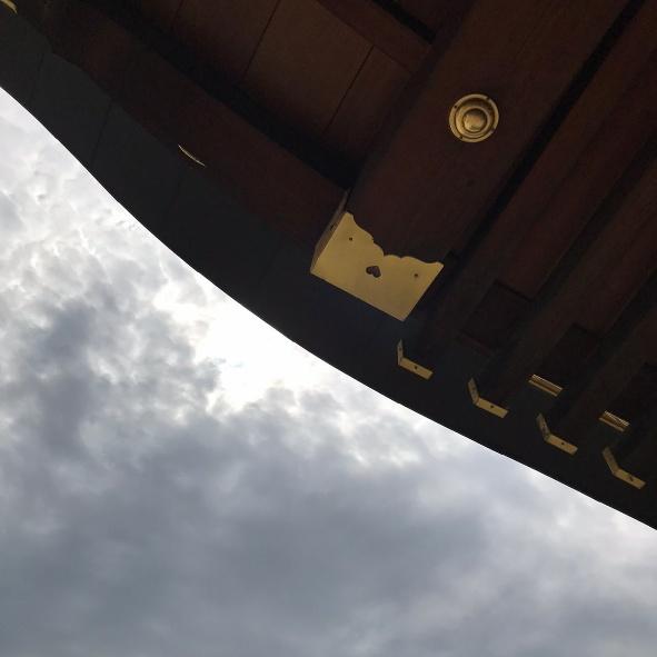 美瑛神社のハートマーク
