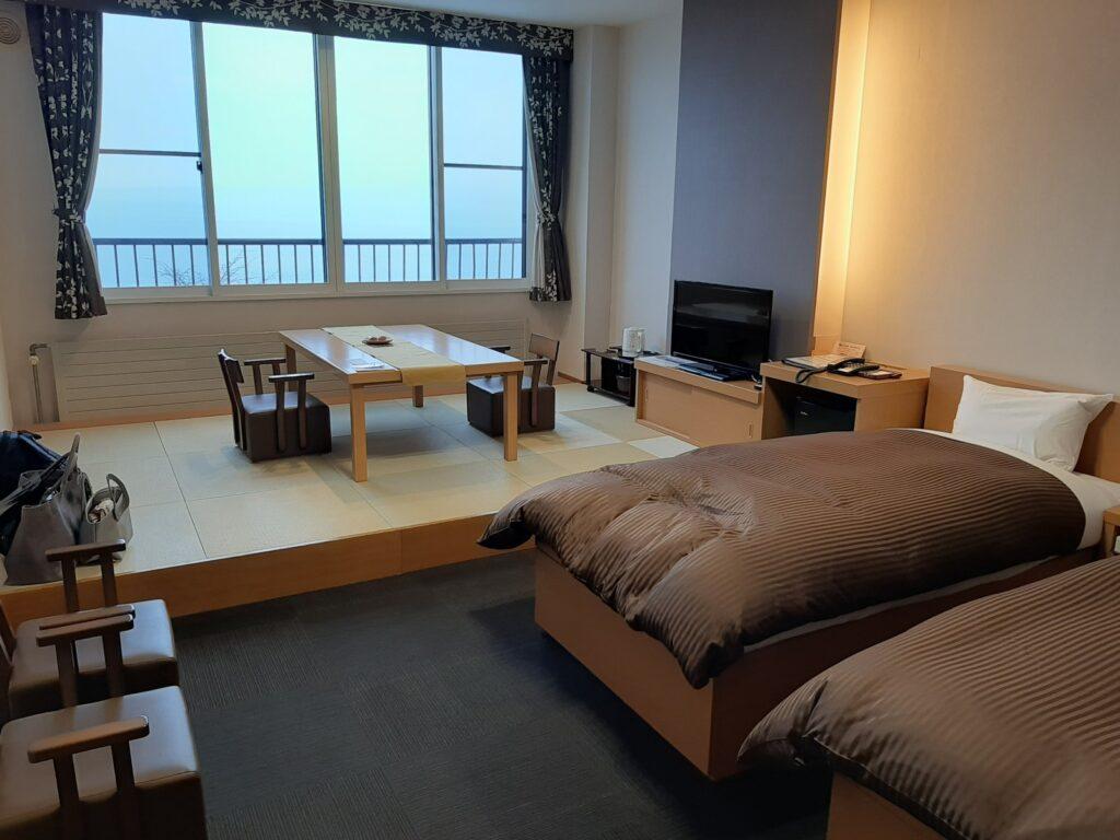 丸駒温泉の和洋室