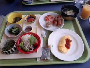 丸駒温泉の朝食