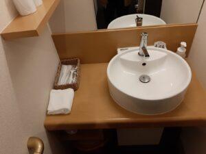 丸駒温泉の洗面所
