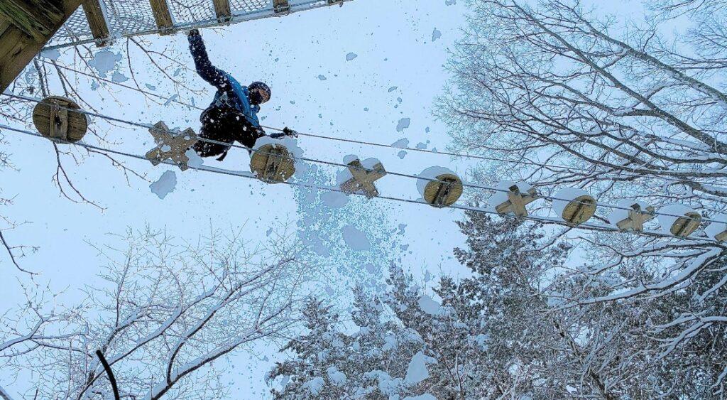 フォレストアドベンチャー恵庭の冬
