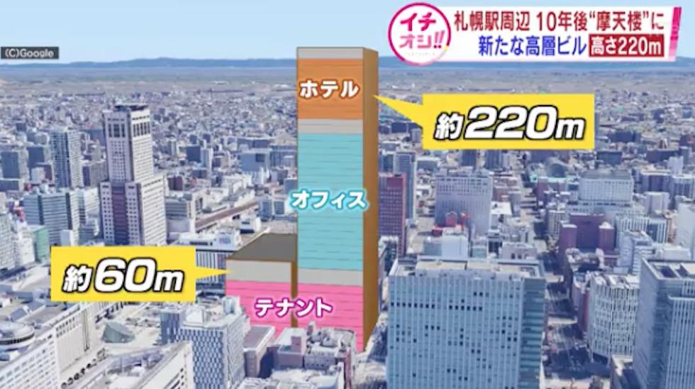 札幌の高層ビル