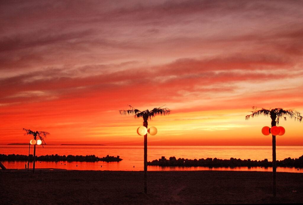 羽幌サンセットビーチの夕日